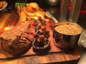 A succulent and tender steak served with Diane sauce